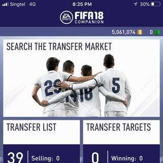 FIFA 18 Coins PS4 $2/10k (5Million Available)