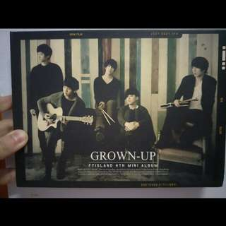 🚚 FTIsland 4th mini album【Grown-up】