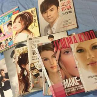 Makeup and hairstyling books