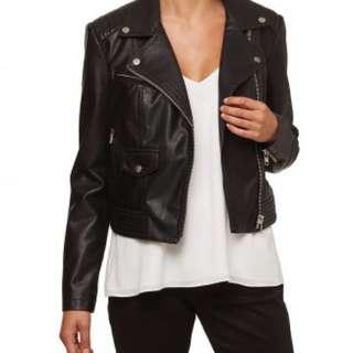 Sportsgirl PU Leather Jacket