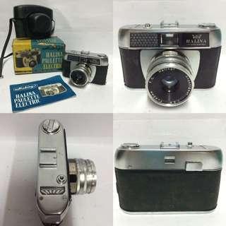 Vintage camera  Halina Paulette Electric  Nos item  45mm made in Japan