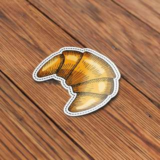 Croissant Sticker - Bakery, Bread, Donut, Cute, Sticker for Scrapbooking, Art and Crafts