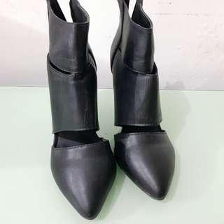 Ankle Slit Boot Heels