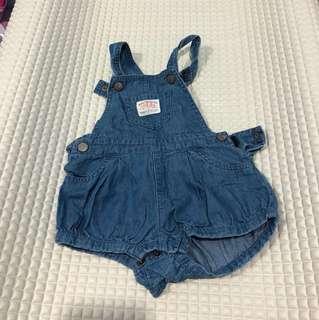 Miki baby girl's overalls