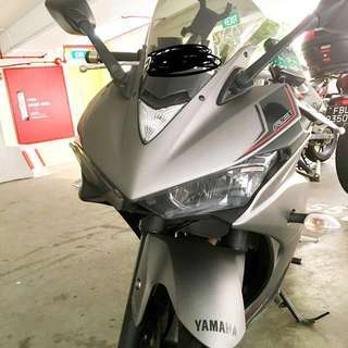 Yamaha R3 ABS - 3 digit plate number ( Akra pipe euro 4  )