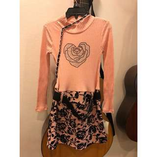 5T NEW Pink Dress + Bag