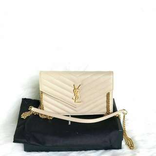READY 1pc ONLY YSL WOC 19cm in Nude GHW 19 x 12,5 x 3,5