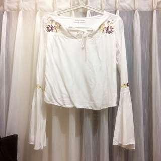Baju putih flare impor