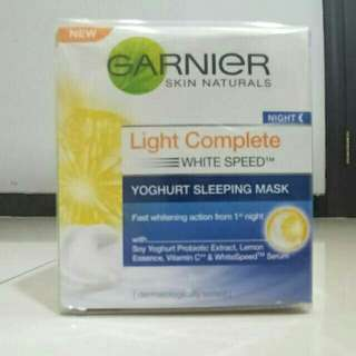 Garnier yogurt sleeping mask
