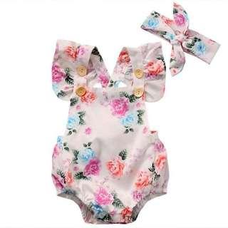 Baby Girl Summer Floral Romper
