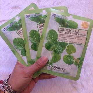 Foodaholic Green Tea Natural Essence Facial Mask