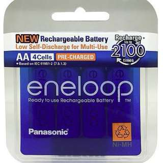 4-PIECES AA PANASONIC ENELOOP rechargeable battery AAA for camera cordless phone