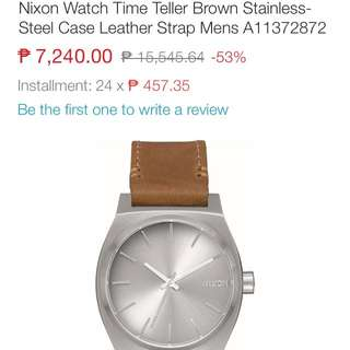 Authentic Nixon Time Teller Leather