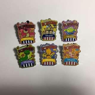 Disney Pin 迪士尼徽章 襟章 - popcorn pin