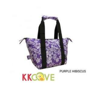 Jingle Jungle - Ezara 2 in 1 Convertible Cooler Bag (Purple Hibiscus)