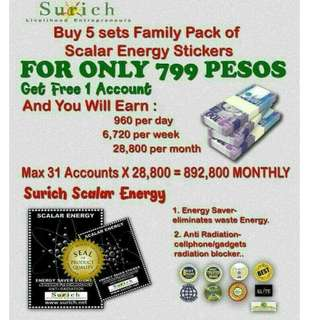 Surich Scalar Energy Saver Sticker BE A MEMBER FOR 799/ACCOUNT (5sets sticker)
