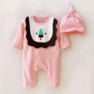 *Ready Stock* Adorable Lion Long Sleeve Cotton Jumpsuit / Romper for Baby
