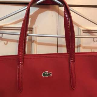 LACOSTE RED SHOULDER BAG