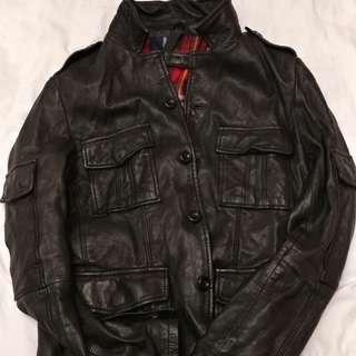 Salad leather black jacket