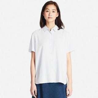 2x UNIQLO (S) Rayon Short Sleeve Blouse