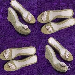 Sandal wegdes bening/kaca