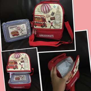 Limited Edition Gingersnaps Lunch Box & Warmer Bag
