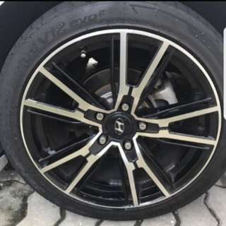 Hankook tyres with 17 rim