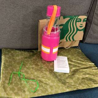 Starbucks Pink Water Bottle Tumbler