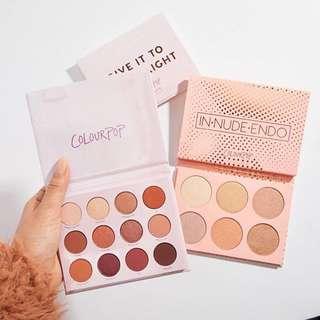 Colourpop new eyeshadow palette & highlighter palette