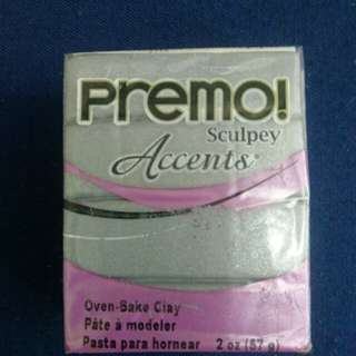 Sculpey PREMO Accents Polymer Clay 5129 Silver
