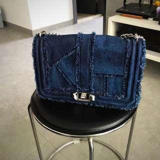 """Rebecca minkoff handbag """"love crossbody"""" denim special edition. 95%new"""