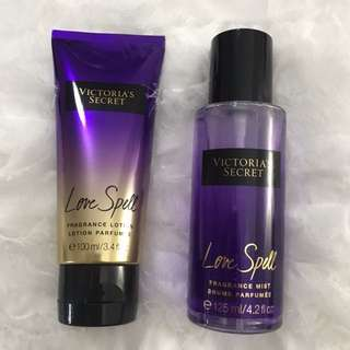 ORIGINAL Victoria's Secret Love Spell Body Mist and Body Lotion