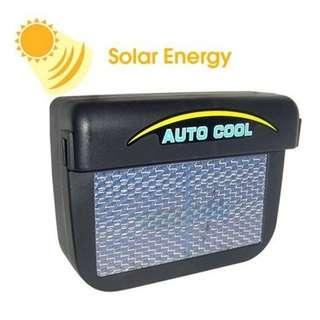 Ventilasi Udara Mobil Tenaga Solar - Black