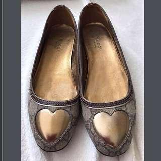 Gucci 愛心 娃娃鞋 平底鞋 芭蕾舞鞋 35.5號 #大掃除五折