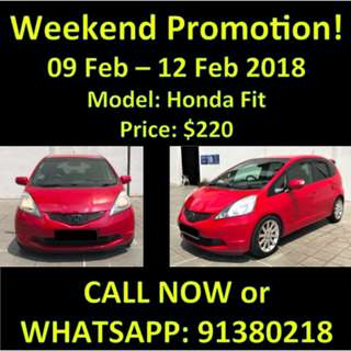 9-12 Feb Honda Fit SALE WEEKEND