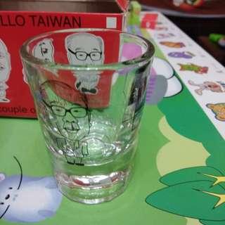 台灣兩蔣小酒杯一對連盒。