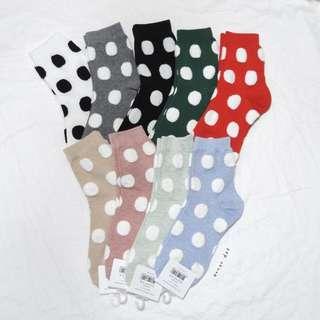 。error dot。韓國製超Q立體絨毛圓點襪子 特價