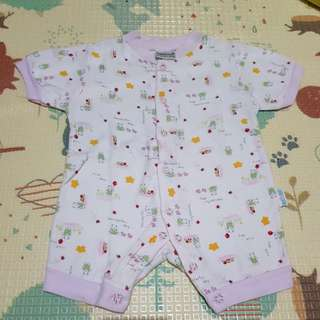 Romper Pink Duck Duck for 0-6mo