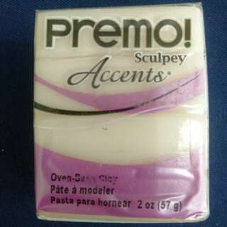 Sculpey PREMO Accents Polymer Clay 5510 White Translucent