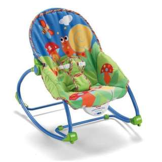 Fisher Price Infant-to-Toddler Durable Rocker (Blue)