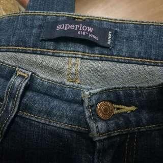 Levis super low jeans