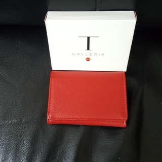 [包郵] 全新紅色 Galleria card holder 卡片套