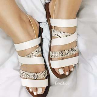 Strappy flats size 6