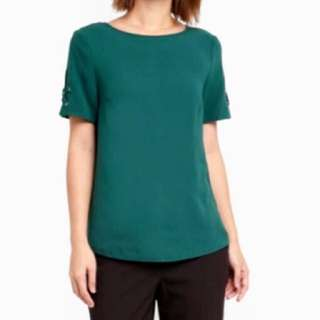 H&M Emerald Green Top