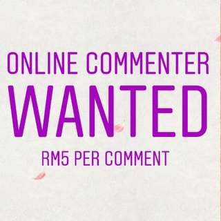 RM5 Per Online Comment
