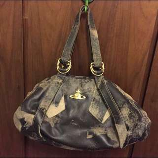 98%NEW Vivienne Westwood Real Leather Bag 西后真皮手袋