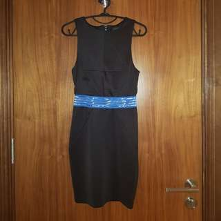 Mini dress hitam topshop