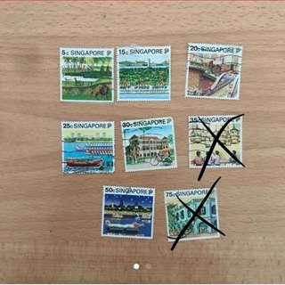 Singapore Stamps - Singapore Landmarks (8 designs)