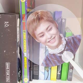EXO XIUMIN TRANSPARENT FAN