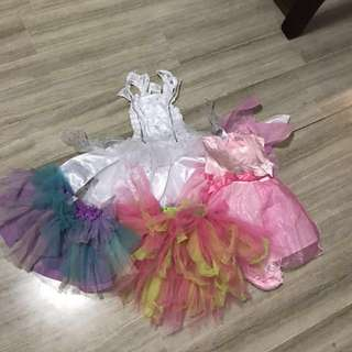 Fairy dresses and tutus. Unused. From 6 months - 2 yrs old